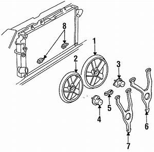Cadillac Deville Engine Cooling Fan Blade  Right  Models