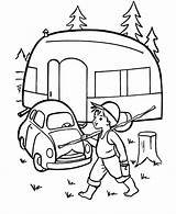 Camping Camper Coloring Printable Pages Caravan Sheets Embroidery Trailer Rv Adult Printables Cars Preschool Colouring Tent Campers Kleurplaten Print Theme sketch template