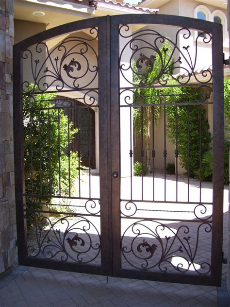 Wrought Iron Courtyard Gates