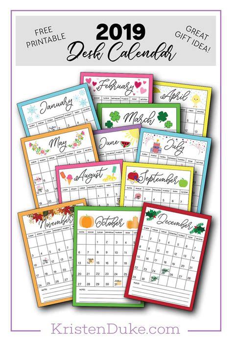 calendar printable capturing joy  kristen duke