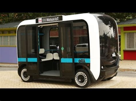 olli   printed  driving minibus  hit  road youtube