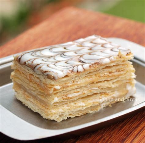 napoleon cake recipe ribbon and circus saturday the napoleon cake a k a mille feuille