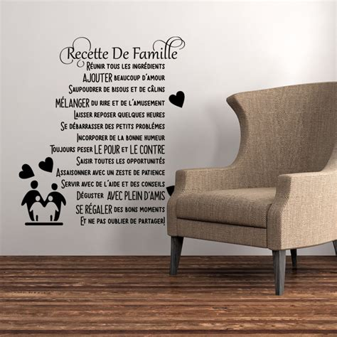 sticker citation recette de famille stickers stickers
