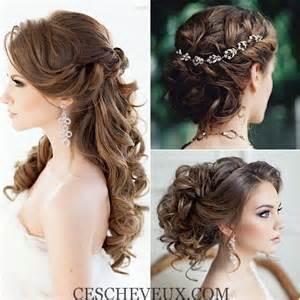 coiffure de mariage coiffures de mariage belles grâce à de jolies postiches cheveux coiffure