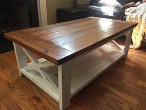 farmhouse coffee table With farmhouse coffee table set