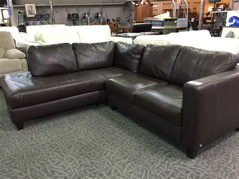italsofa leather sofa sectional italsofa brown leather sofa with chaise able auctions