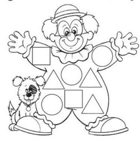 clown worksheets free printable shape worksheet for crafts and worksheets for preschool toddler and