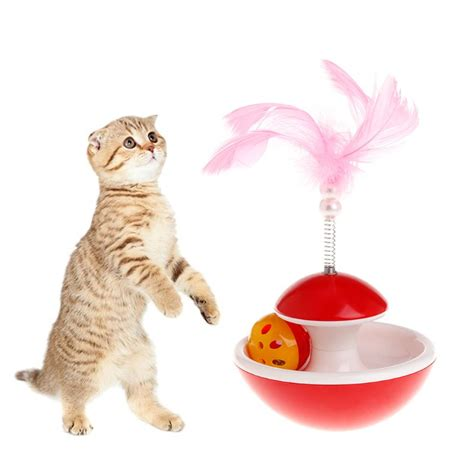 pet cat electric toys teaser interactive cats toy rotating