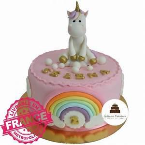 Gateau Anniversaire Petite Fille : g teau d 39 anniversaire figurine rainbow licorne g teau cr ation courbevoie paris ~ Melissatoandfro.com Idées de Décoration