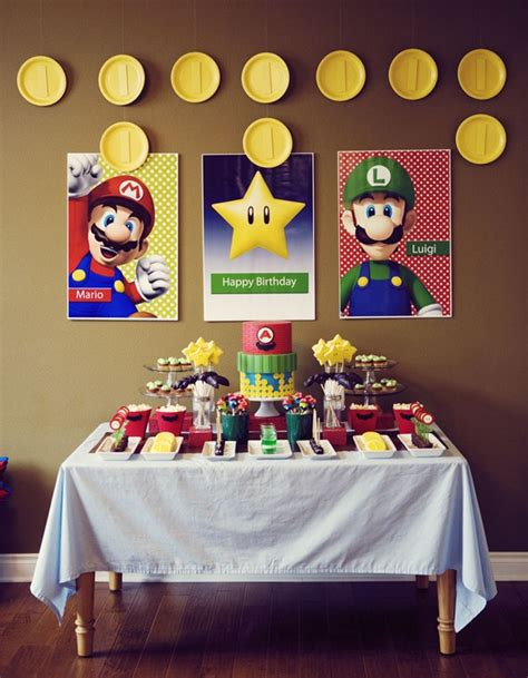 awesome super mario birthday party ideas
