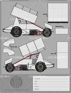 race car graphic design templates - sprint car template of racing graphics