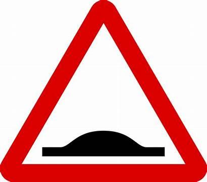 Road Signs Hump Warning Traffic Svg Mauritius