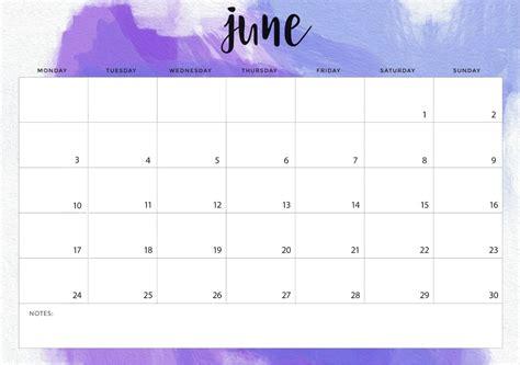 june monthly wall calendar june june