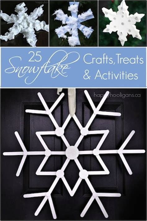 snowflake crafts activities  treats happy hooligans