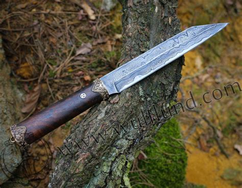 hjörtur viking seax knife damask wulflund com