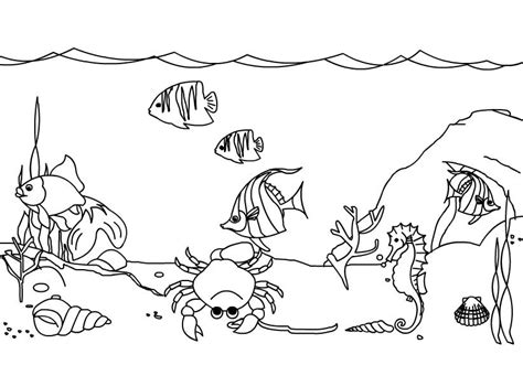 Coloring The Sea by The Sea Coloring Page