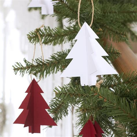 how to make paper christmas tree decorations