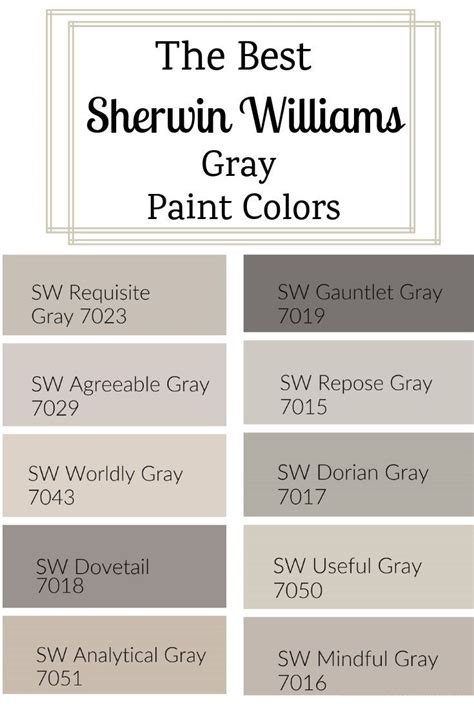 sherwin williams gray paint colors colors gray paint