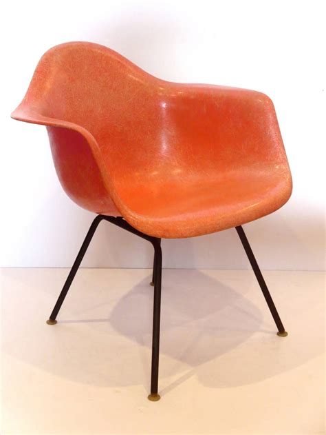 1950s american modern eames fiberglass arm shell chair for