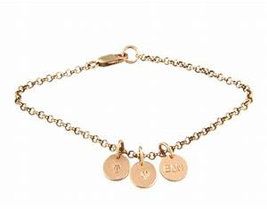 charm bracelet and alphabet charms in 14ct rose gold filled With gold letter charms for bracelets