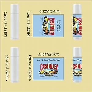 Lip balm tube labels for Chapstick label size