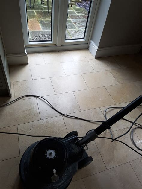 Cleaning, Polishing and Sealing Travertine Floors in