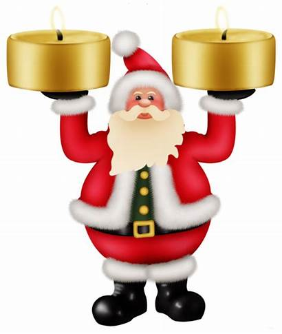 Santa Claus Candles Christmas Clipat Clipart Transparent