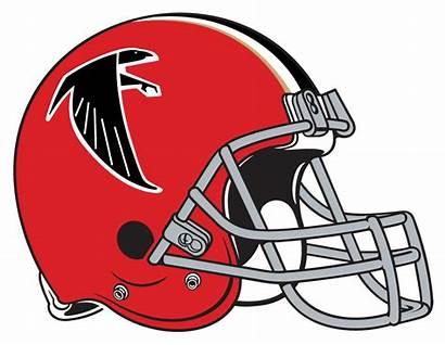 Falcons Atlanta Helmet Logos 1966 Football Nfl