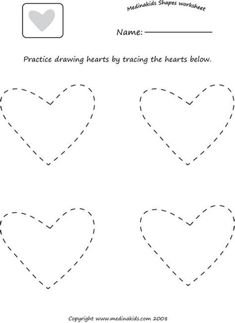 Tracing Hearts Shape Worksheet  Homeschooling  Pinterest  Alphabet Worksheets, Heart Shapes