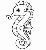 Coloring Seahorse Pages Printable Seahorses Happy sketch template