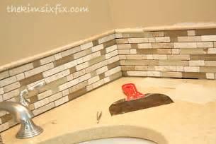 updating a vanity with a custom tile backsplash the kim