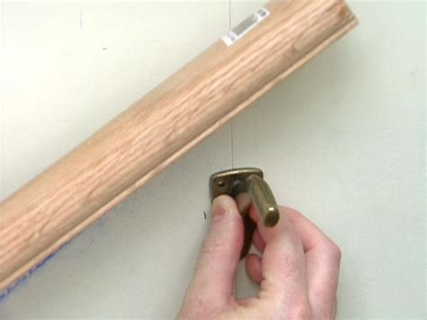 wall mounted handrail height how to install a stairway handrail how tos diy