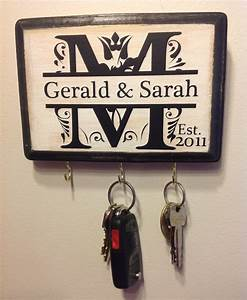 personalized wedding gift monogram key holder awesome With personal wedding shower gift ideas