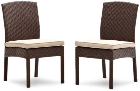 Strathwood Patio Furniture Manufacturer by Strathwood Griffen All Weather Wicker Dining Armless Chair