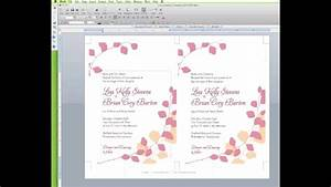 how to edit a wedding invitation template in word youtube With wedding invitation video online editing