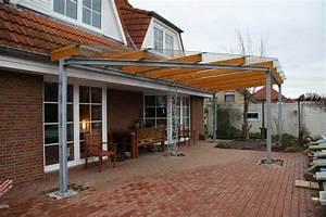 Terrassenüberdachung Holz Freistehend : terrassendach aus stahl glas und leimbindern s ule mit ~ Frokenaadalensverden.com Haus und Dekorationen