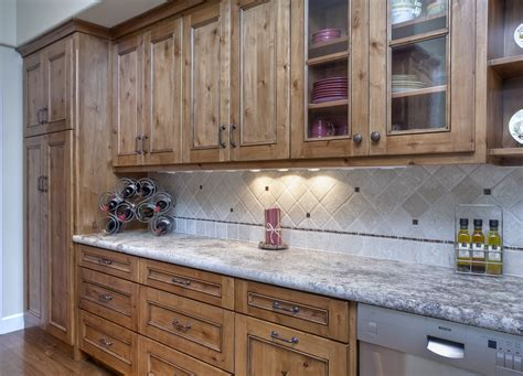knotty alder kitchen cabinets rustic knotty alder kitchen with stain and glaze finish by