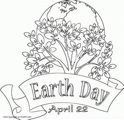 Coloring Earth Pages Printable April Sheets Colouring