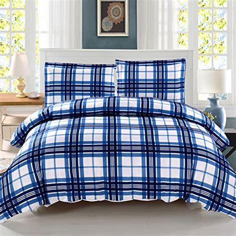 plaid duvet covers king 3 pieces blue plaid duvet cover set king size bedding