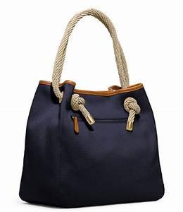 MICHAEL Michael Kors Marina Large Grab Bag Navy - MICHAEL ...