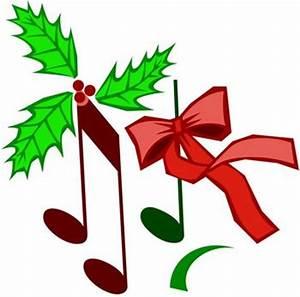 Christmas Music Notes Clip Art