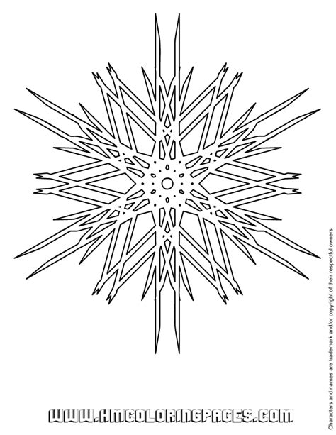 difficult snowflake coloring page   coloring pages