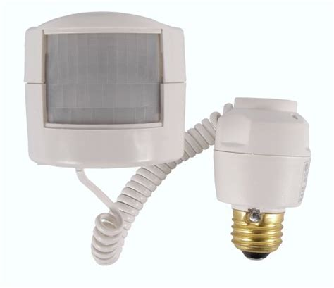 motion sensor light adapter ge outdoor motion activated light sensor gadgetgrid