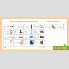 * New * Phase 5 Graphemes Letter Formation Mat  Phase 4 Blends And Clusters
