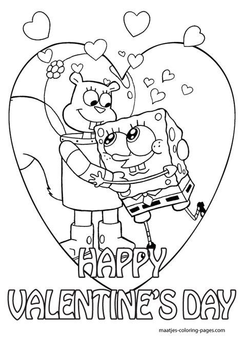 valentines day coloring sheets spongebob coloring pages spongebob valentines