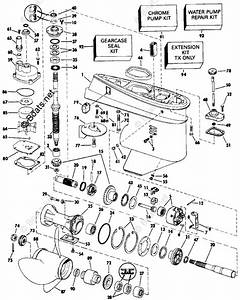 Johnson Outboard Parts By Hp 70hp Oem Parts Diagram For