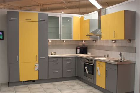 Yellow Kitchen Cupboards by Two Tone Grey And Yellow Kitchen Cabinets Home Decor