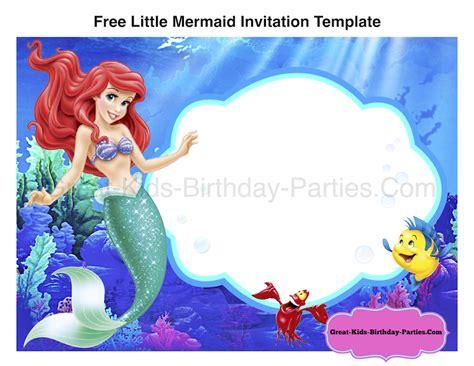 mermaid invitation template mermaid font
