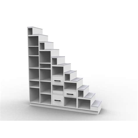 etagere angle cuisine meuble escalier bibliothèque mezzanine modèle longo