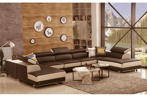 canapé de luxe italien canapé d 39 angle en cuir buffle italien de luxe 8 9 places